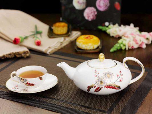 Bộ bình trà gốm Bát Tràng – Mỹ Nghệ Việt